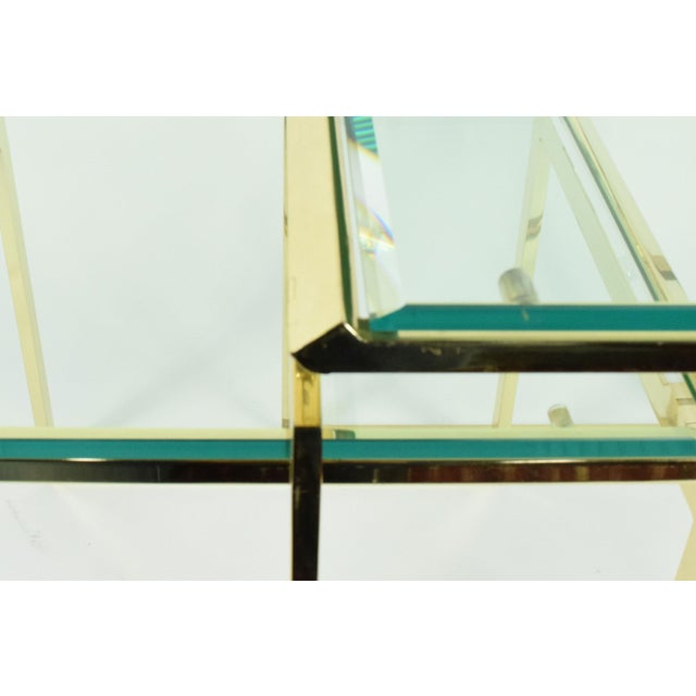 Pair of Brass & Glass Modernist Nesting Tables - Image 5 of 8