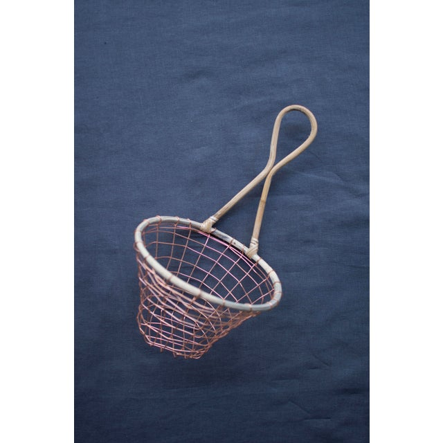 Copper Wire Wall Hanging Basket | Chairish