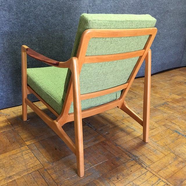 Light Green Mid-Century Modern Armchair - Image 6 of 7