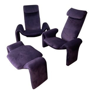 Vintage Olivier Mourgue Orignial Djinn Chairs- Set of 3 For Sale