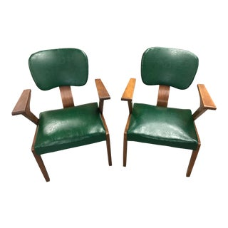 Vintage Walnut Thonet Armchairs - a Pair For Sale