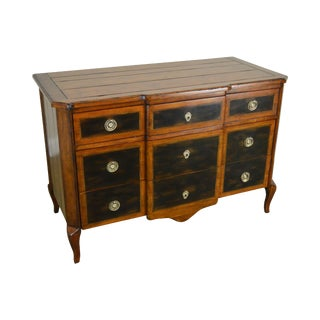 Maitland Smith French Louis XV Style 3 Drawer Chest Commode For Sale