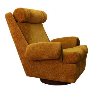 1960s Vintage Adrian Pearsall for Craft Associates Swivel Rocking Armchair For Sale