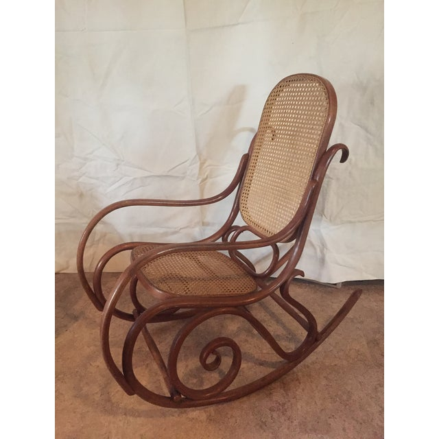 1960s Vintage Thonet Style Bentwood Rocking Chair For Sale - Image 12 of 12