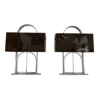 1970s Geometric Lamps by Pierre Cardin - a Pair For Sale