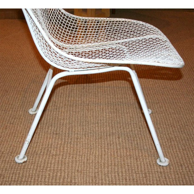 White Woodard Jet Age Wire Mesh Outdoor Chairs - Set of 24 For Sale - Image 8 of 10