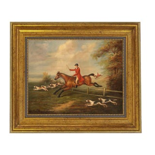 J.N. Sartorius Fox Hunting Scene Reproduction Canvas Print For Sale