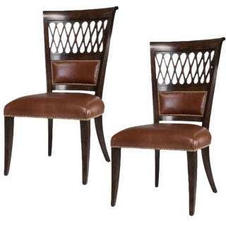 Sarried Ltd Umbria Finish Exeter Dining Chairs - a Pair For Sale