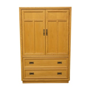 Late 20th Century Vintage Stanley Furniture Blonde Contemporary Armoire For Sale