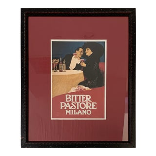 Late 20th Century Italian Figurative Poster, Framed For Sale