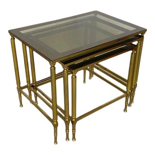Late 20th Century Vintage Hollywood Regency Nesting Tables - Set of 3 For Sale