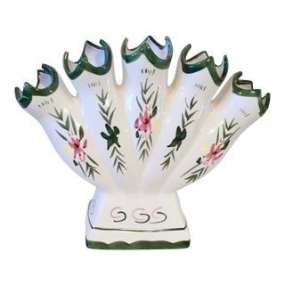 Hand-Painted Tulipiere Vase