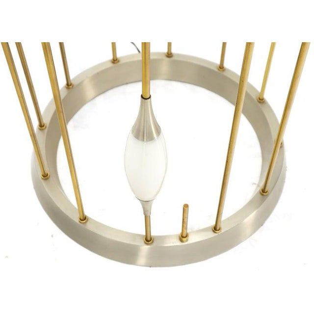 Large Waterfall Brass Floor Lamp Light Fixture For Sale - Image 6 of 12