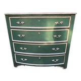 Image of 19th Century Antique Green Painted Chest For Sale