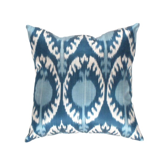 Boho Chic Boho Chic Pasargad Oasis Collection Silk Velvet Ikat Pillow For Sale - Image 3 of 4