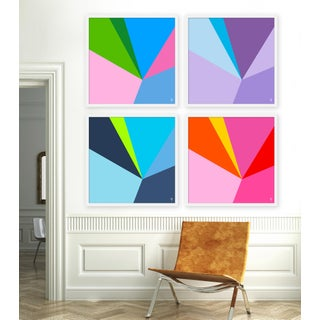 """Large """"Fractured, Set of 4"""" Print by Wendy Concannon, 50"""" X 50"""" Preview"""