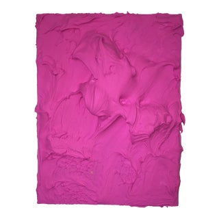 """""""Raspberry Excess"""" Abstract Sculptural Painting by Chloe Hedden For Sale"""
