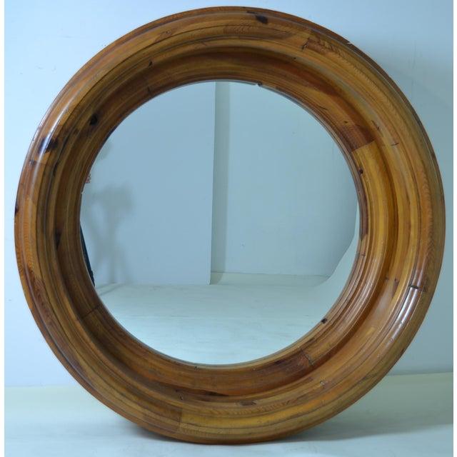 superb monumental ralph lauren porthole mirror decaso