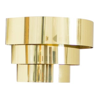 Lightolier Tiered Brass Sconce Light | Art Deco Lighting For Sale