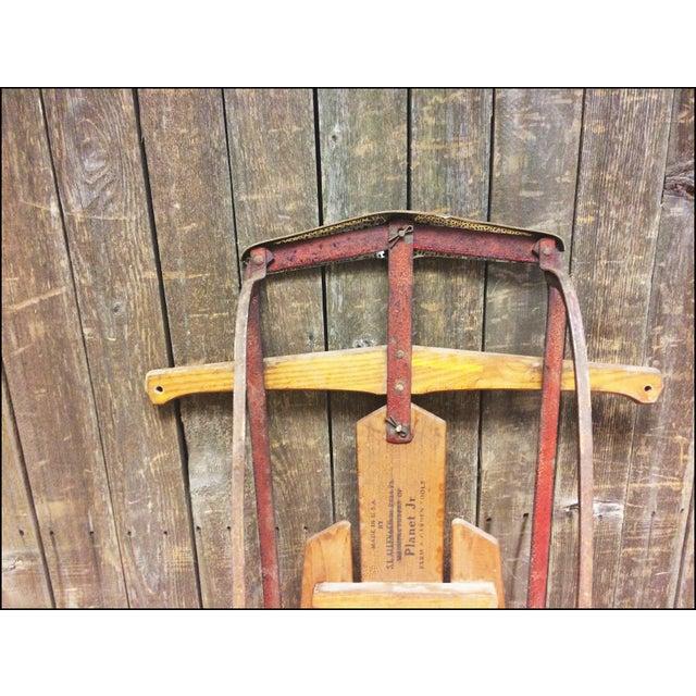 Vintage Weathered Wood & Metal Runner Sled - Image 8 of 11