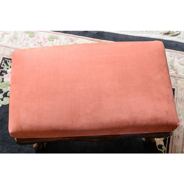 English Walnut Foot Stool For Sale - Image 4 of 6