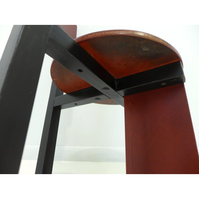 """Red Constructivist """"Bastille"""" Chair by Piet Blom For Sale - Image 8 of 9"""