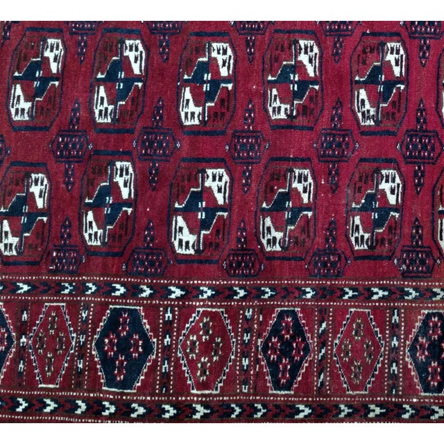 Afghan Antique North Indian Wool Area Rug - 3′6″ × 5′4″ For Sale - Image 3 of 8