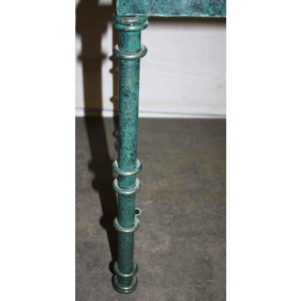 Green Metal Table Base - Image 3 of 4