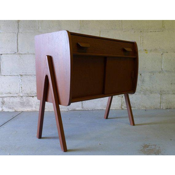 Perfect mid century modern teak cabinet. Perfect as an entryway cabinet, bedside cabinet or storage cabinet. Loads of...