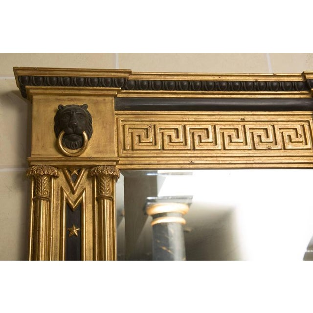Pair of Regency Giltwood and Ebonized Wall Mirrors - Image 4 of 7