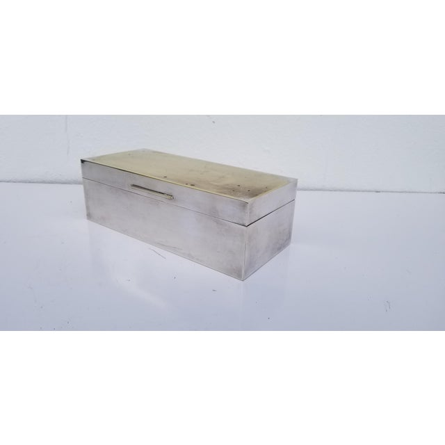 Mid-Century Modern Vintage Mid-Century Silver Plate Decorative Box For Sale - Image 3 of 11