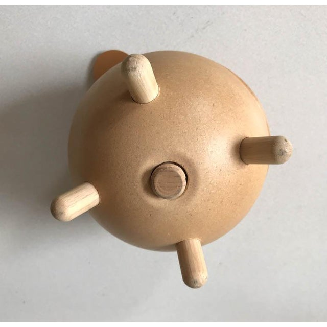 Late 20th Century Vintage Danish Piggy Bank With Leather Ears For Sale - Image 5 of 7