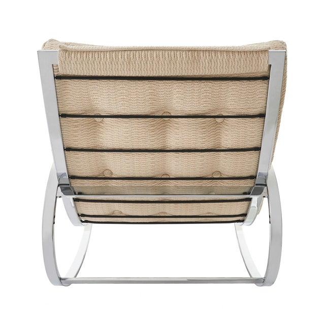 Mid-Century Modern Mid Century Modern Renato Zevi for Selig 'Ellipse' Chrome Rocking Chair For Sale - Image 3 of 9