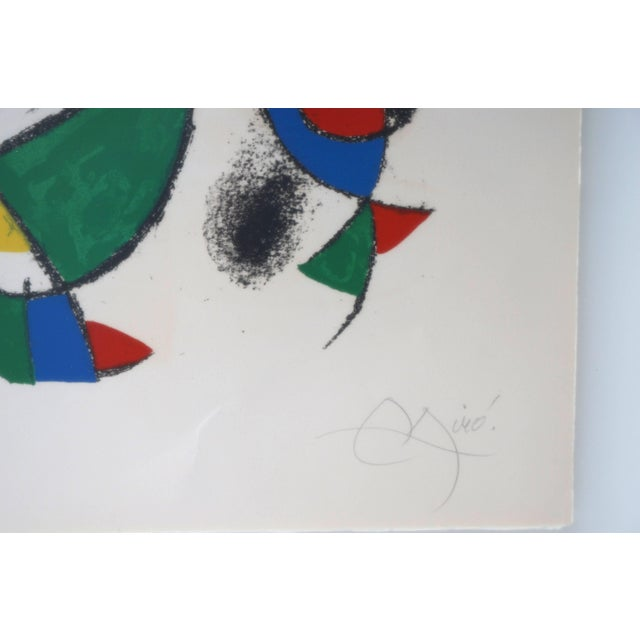 1970s Lithograph by Joan Miro, Circa 1975, Lithographs Ii, Plate 10, Mourlot Paris For Sale - Image 5 of 10