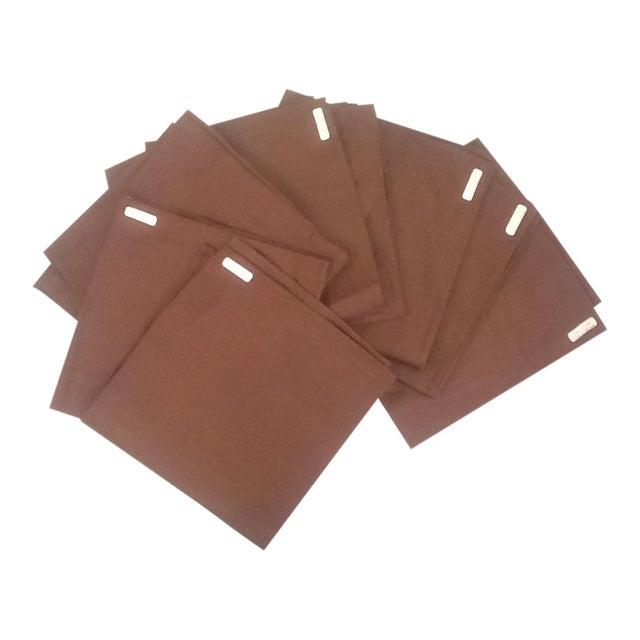 Irish Brown Linen Napkins - Set of 8 - Image 1 of 6