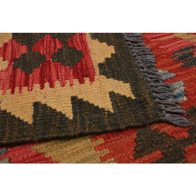 Vintage Kilim Handmade wool Rug. One Of Kind Vintage Rug with perfect design and colours.