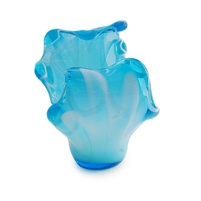 Big Splash Blue Glass Fine Art Dish - Image 5 of 6