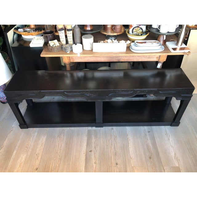 Wood Vintage Moroccan Sofa Table For Sale - Image 7 of 7