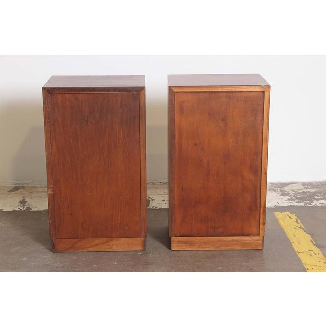 Ash Pair of 1933 Gilbert Rohde Herman Miller Art Deco World's Fair Nightstands Matched For Sale - Image 7 of 11