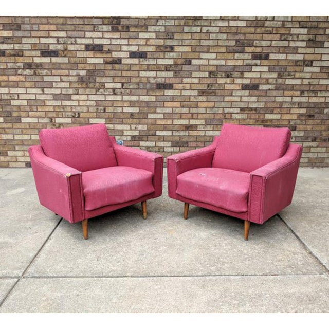 1960s Mid Century Modern Lawrence Peabody Style Lounge Chairs - a Pair For Sale - Image 10 of 10