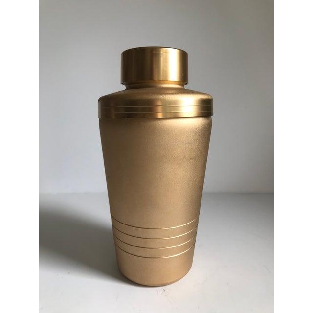 Aluminum Vintage Matte Gold Cocktail Shaker For Sale - Image 7 of 7