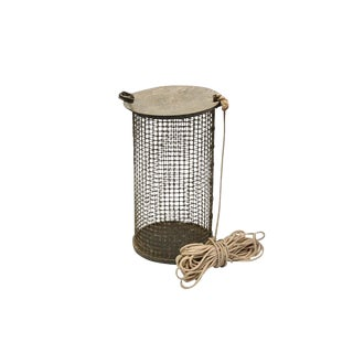 20th Century Rustic Wire Bait Container