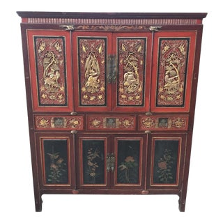 Antique Carved Asian Cabinet