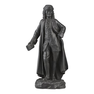 Black Basalt Figure of Voltaire by Wedgwood For Sale