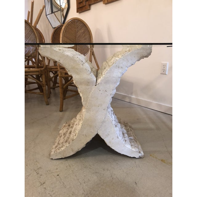 Coquina Coquina & Stone Glass Top Tables For Sale - Image 7 of 9