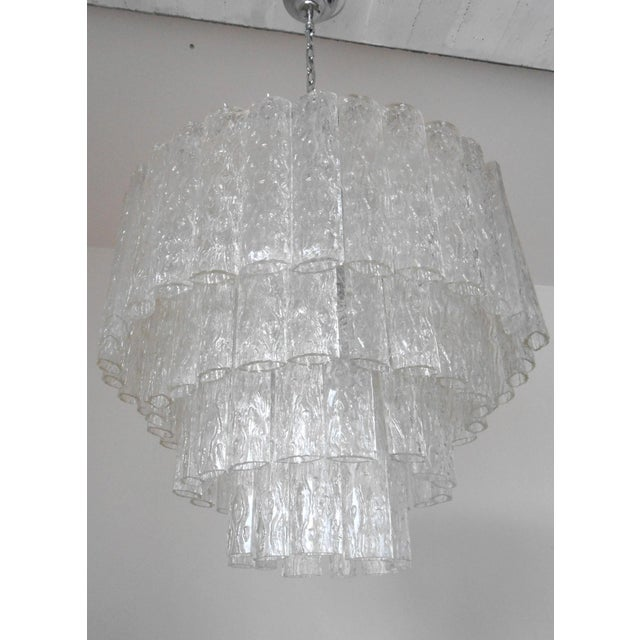 Italian Ovalini Chandelier by Venini For Sale - Image 3 of 5