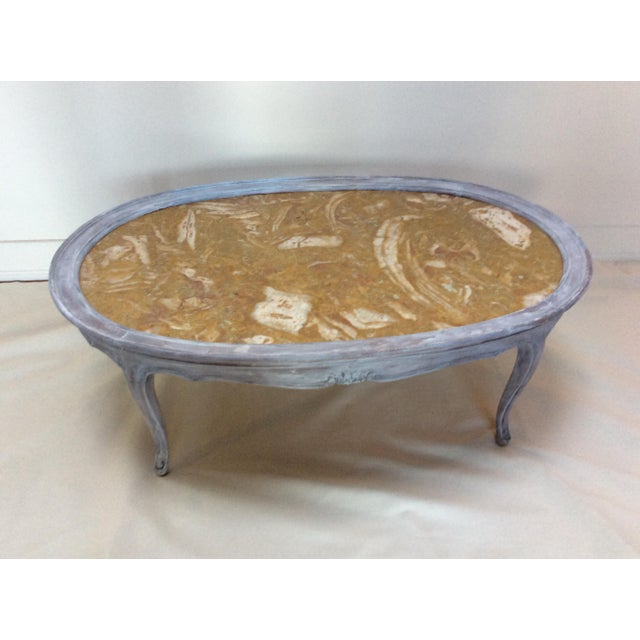 French Marble Top Coffee Table - Image 3 of 6