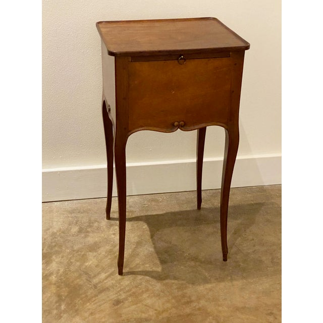 Wood French Provincial Table With Mirror For Sale - Image 7 of 11