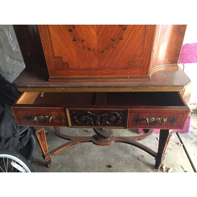 Antique Wood Cabinet - Image 3 of 7