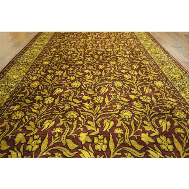 """Suzani Collection Oushak Floral Rug - 6'2"""" x 8'10"""" - Image 6 of 10"""